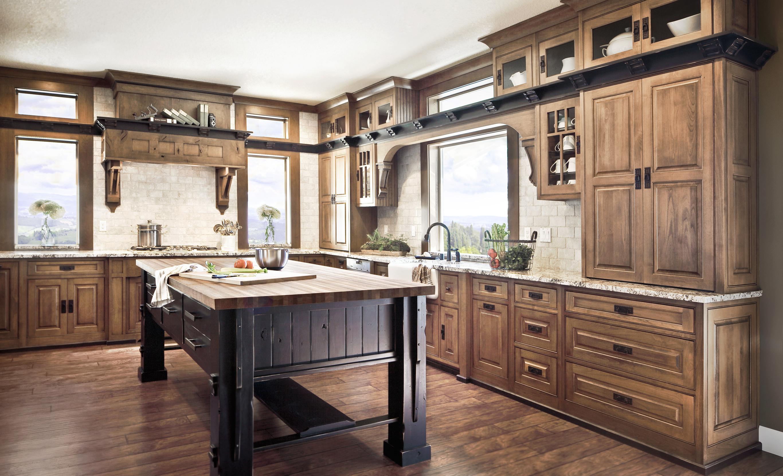 Knotty Alder Kitchen Cabinets Dewils Custom Cabinetry