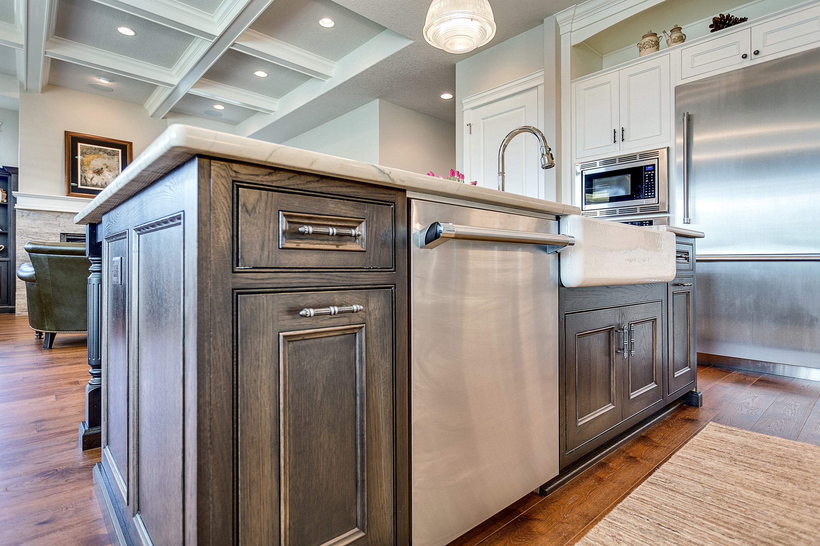 Hickory Kitchen Island
