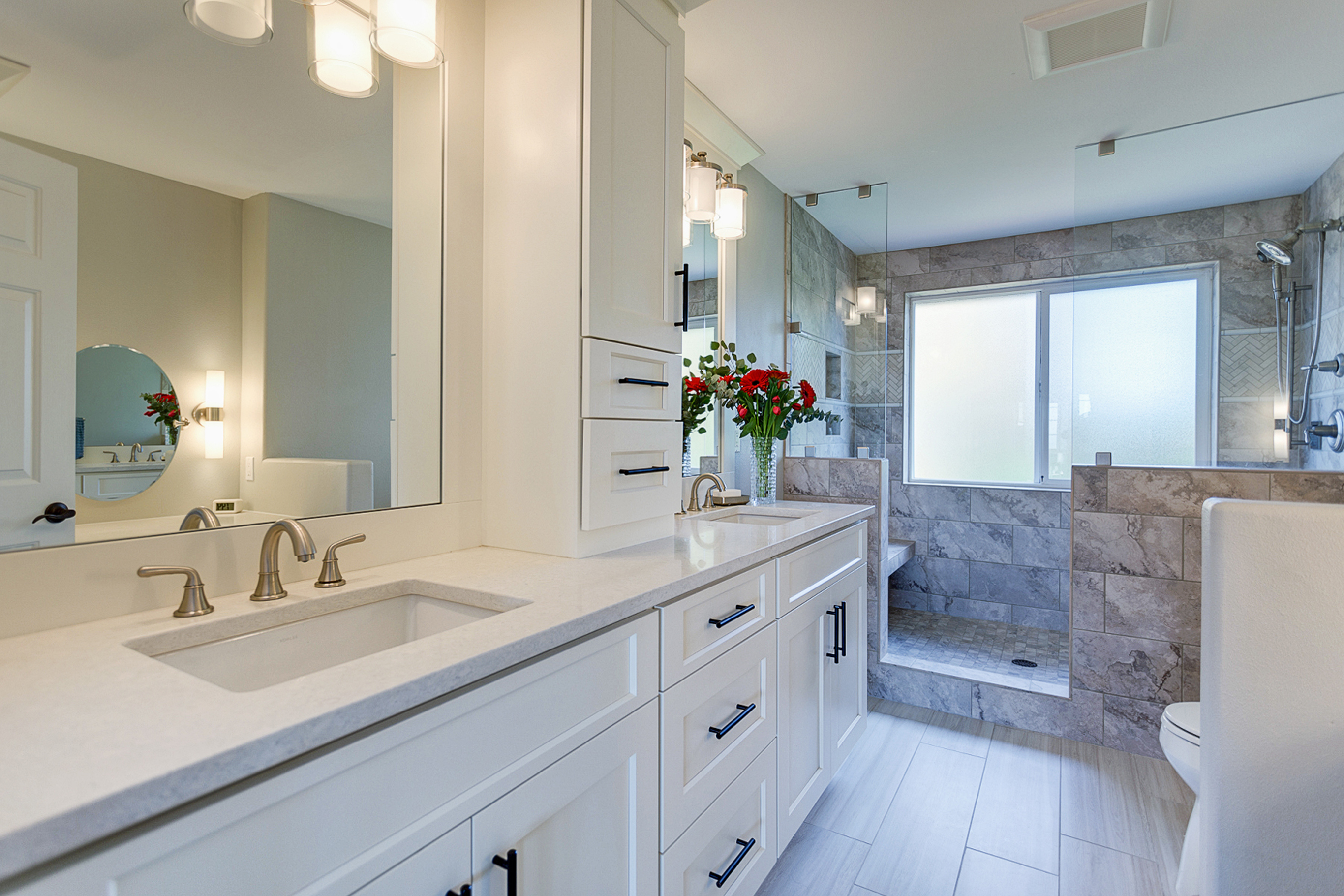 Contemporary White Bathroom Cabinets