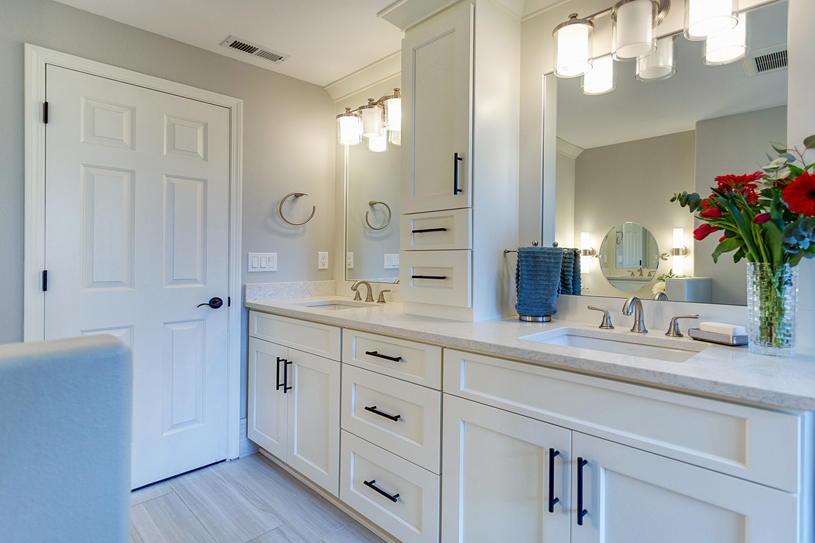 White Bathroom Sink Cabinets