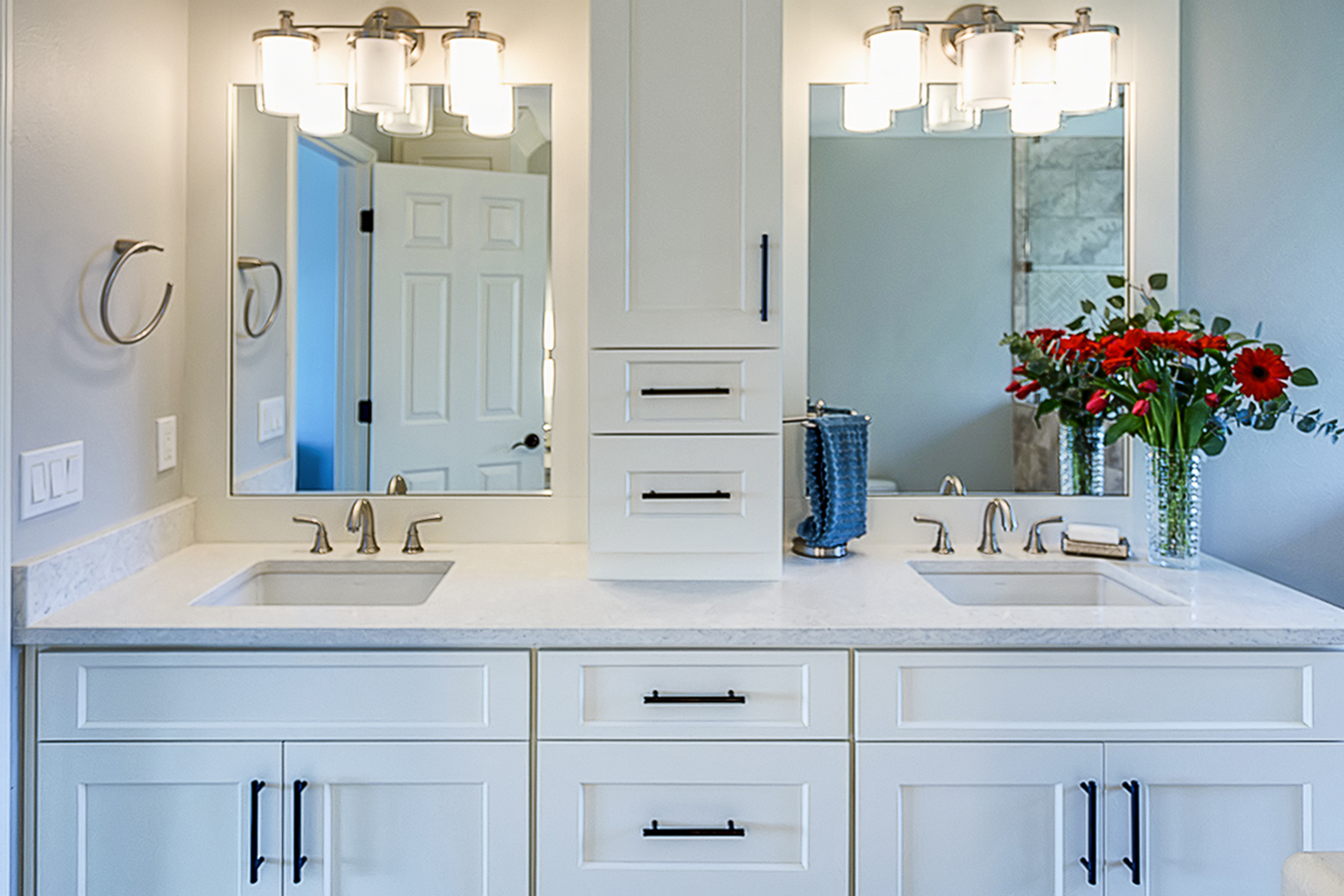 Modern Farmhouse Bathroom Cabinets