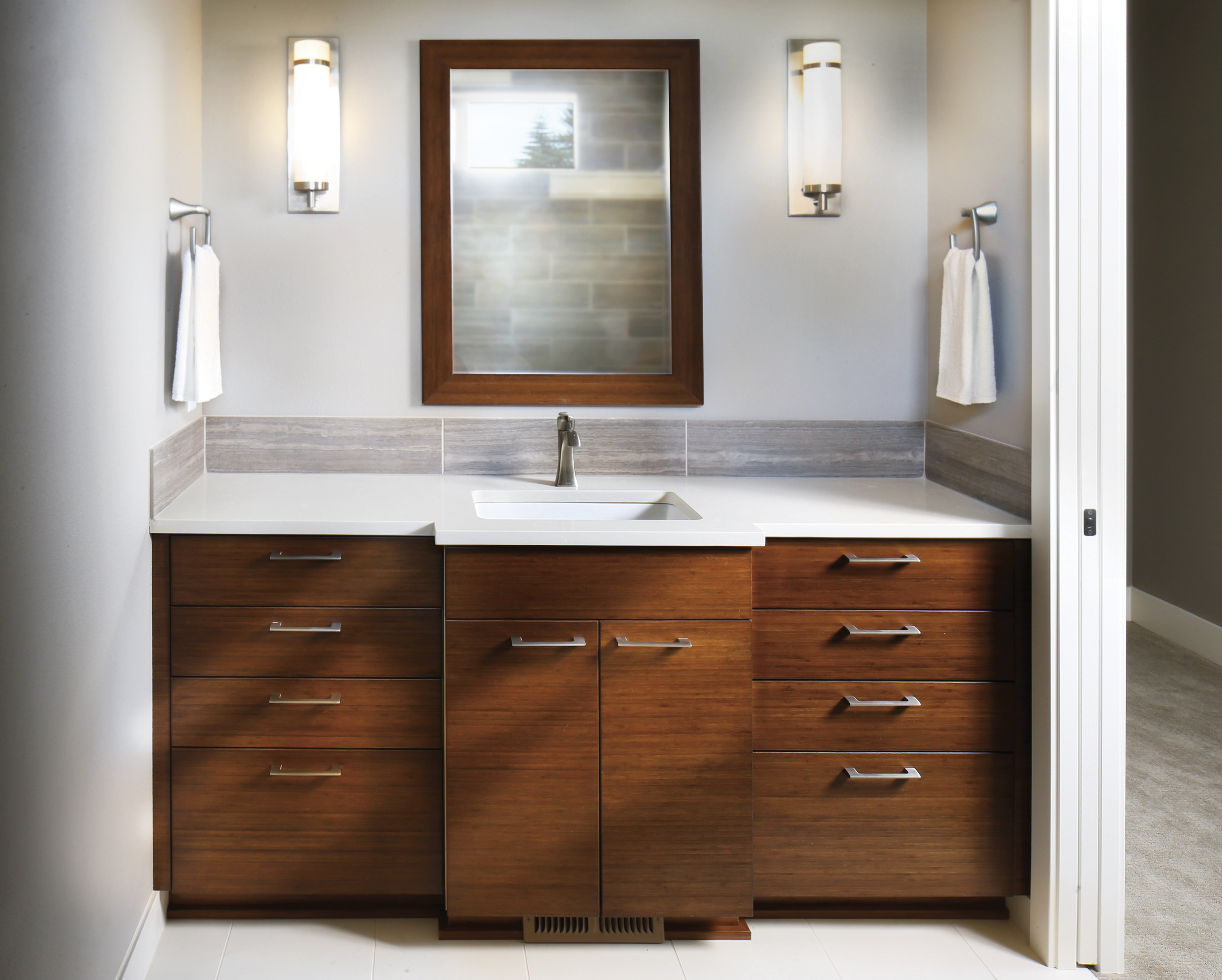 Mahogany Bathroom Cabinetry