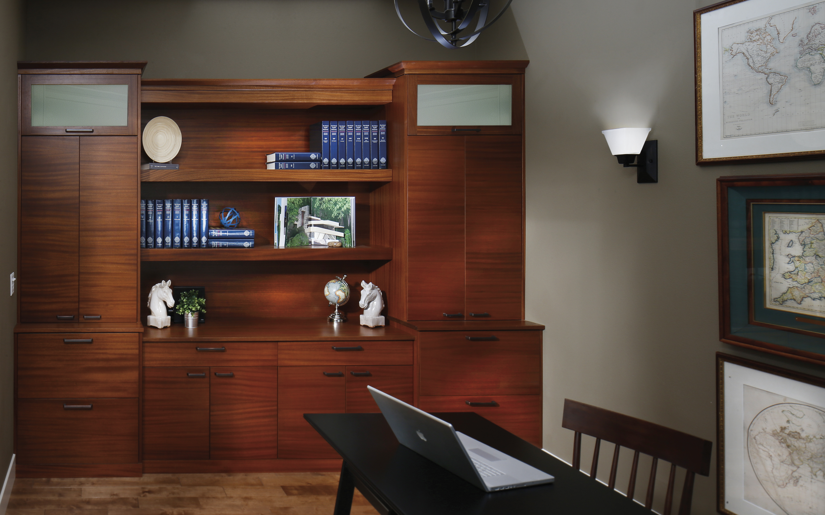 Mahogany Office Cabinetry