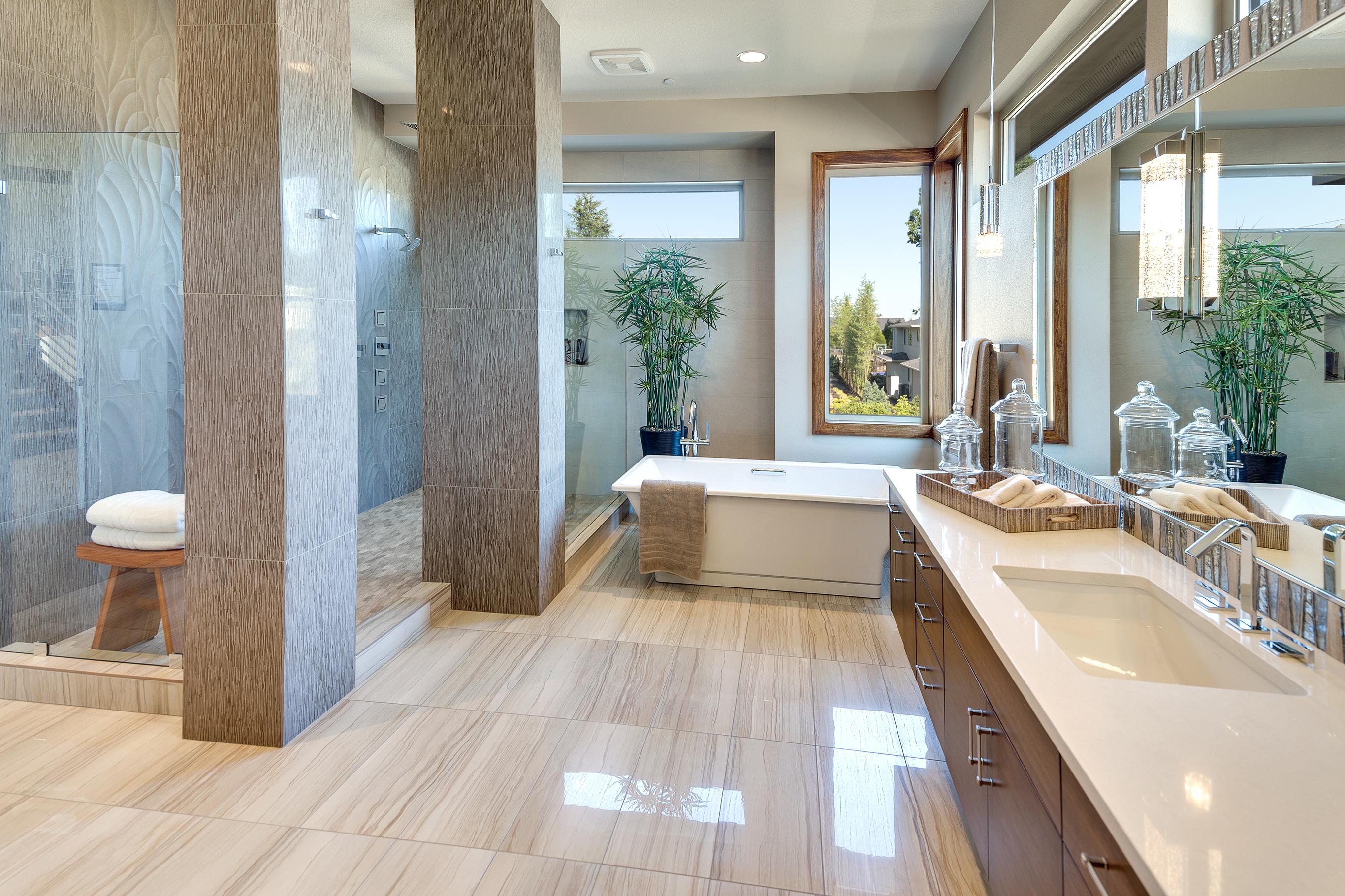Modern Master Bathroom Cabinets