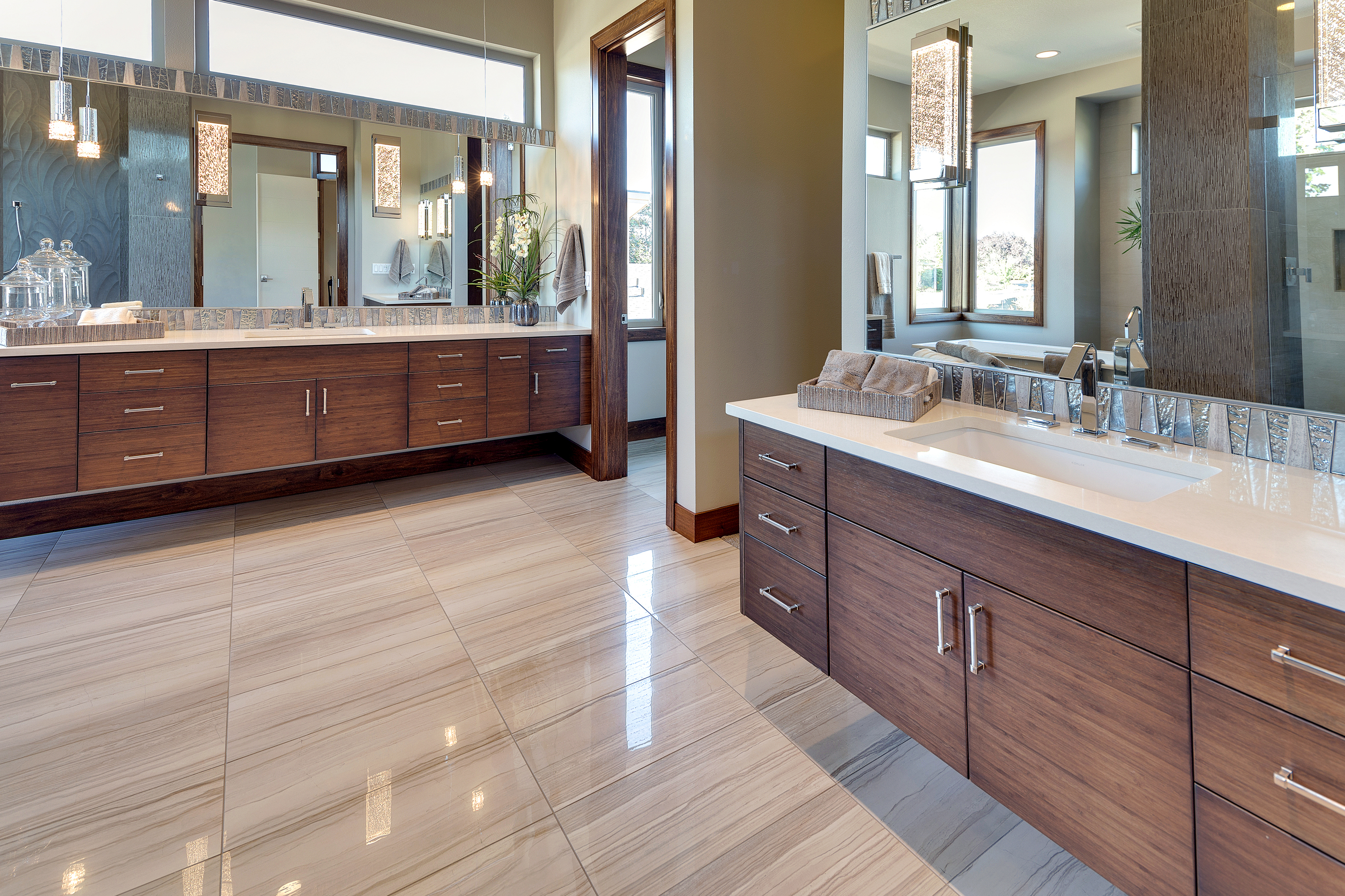 Modern Bamboo Bathroom Cabinets