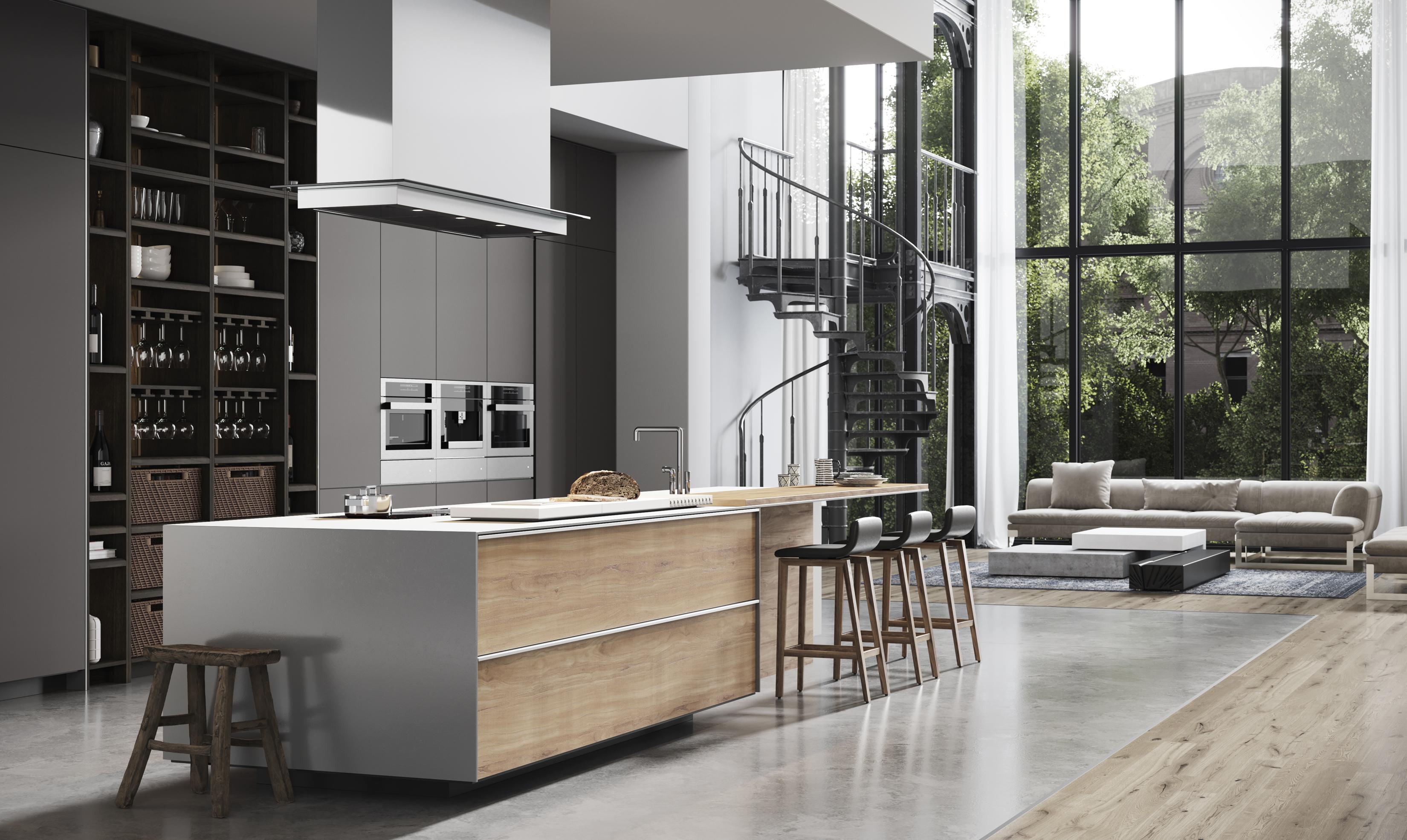 Modern Loft Kitchen Cabinets