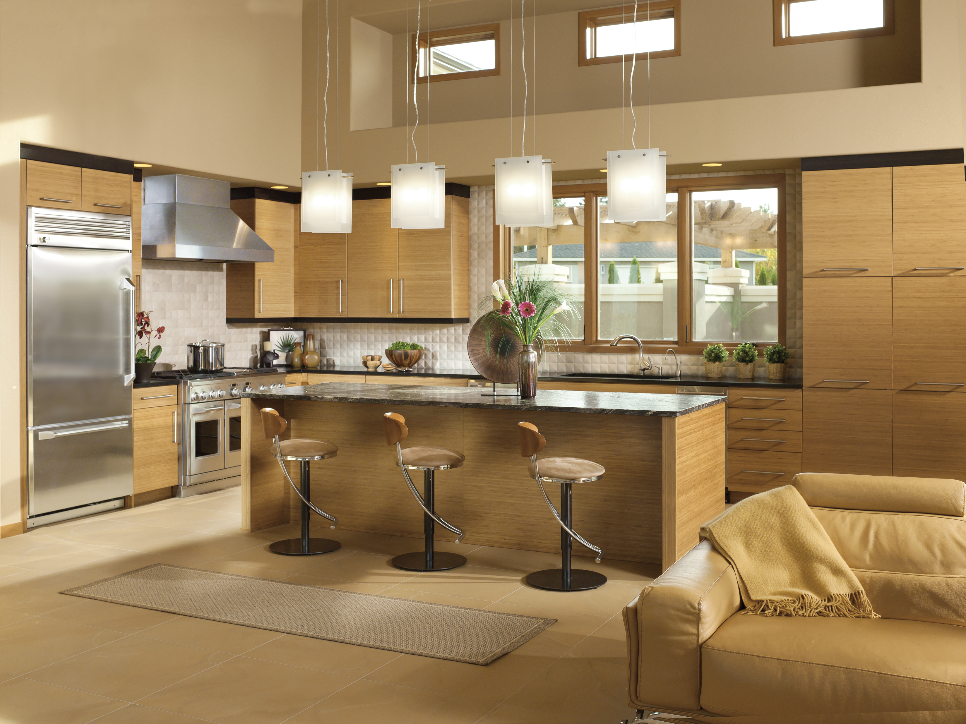 Modern Bamboo Kitchen Cabinetry Dewils Custom Cabinetry