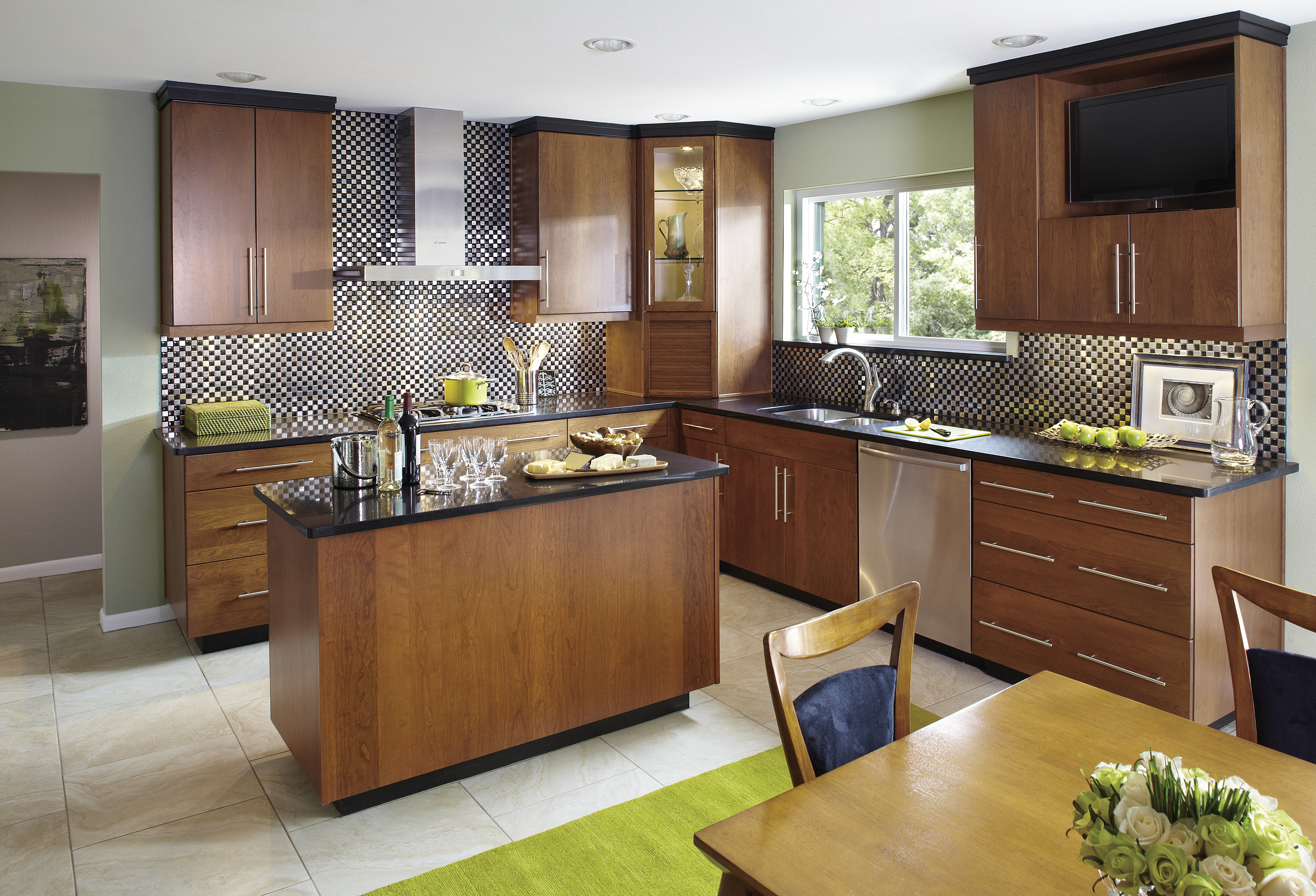 Modern Flat Panel Kitchen Cabinets