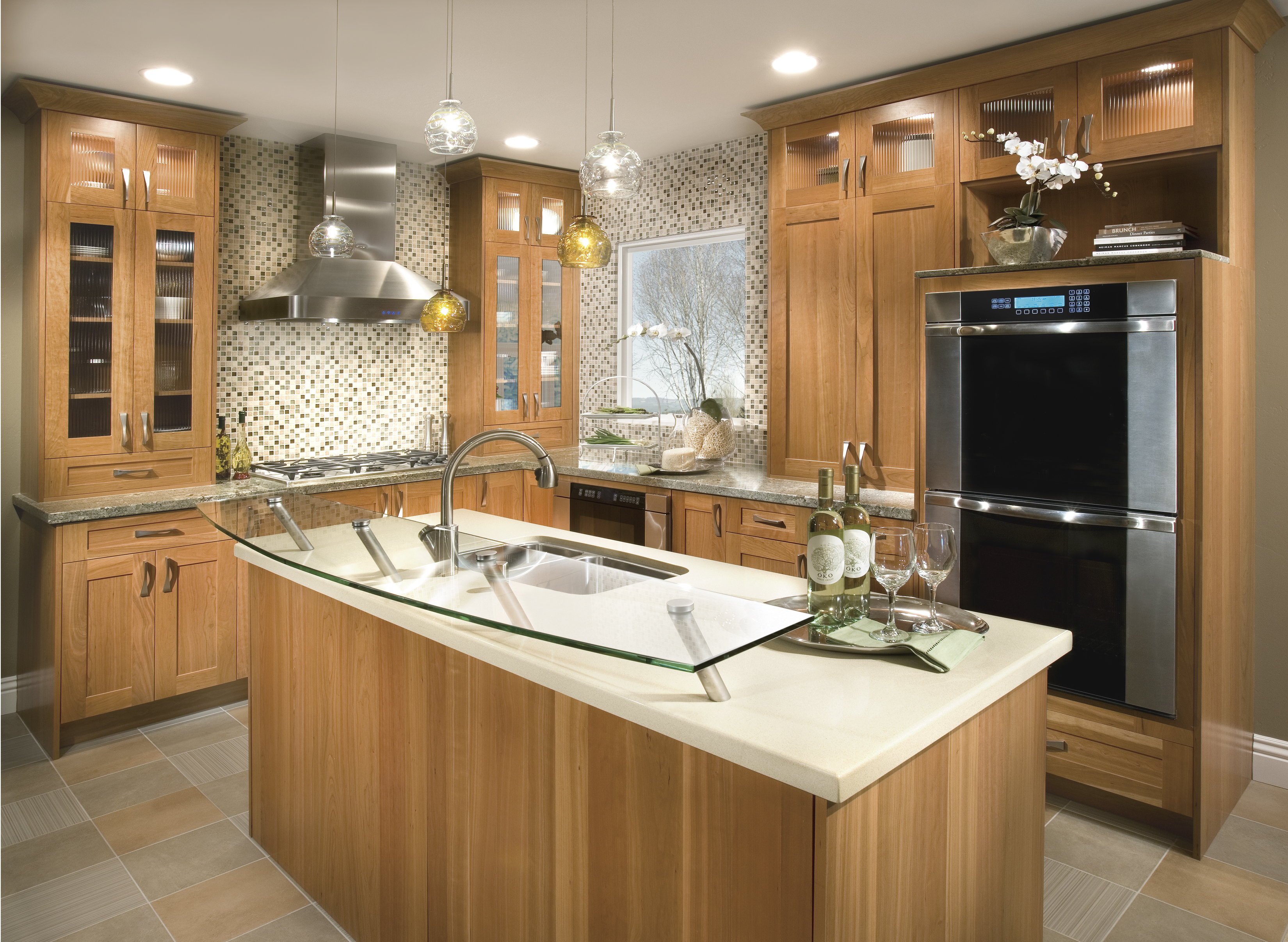 Contemporary Kitchen Cabinets in Cherry