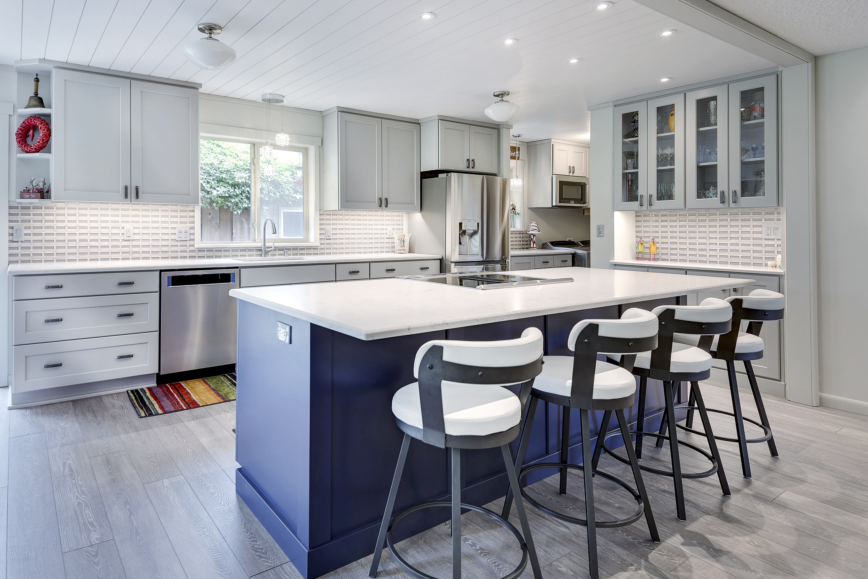 Ash and Indigo Beach House Kitchen Cabinets