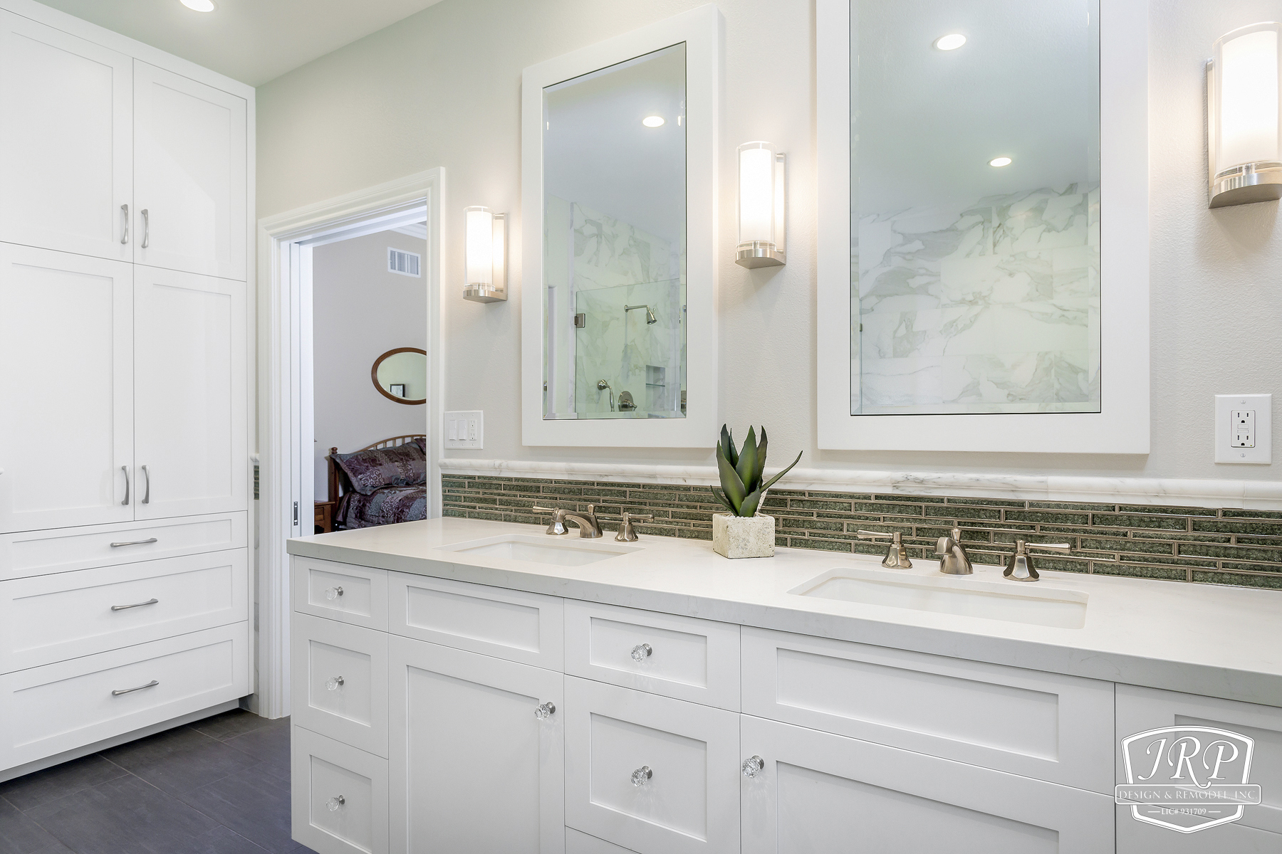 White Shaker Bathroom Vanity