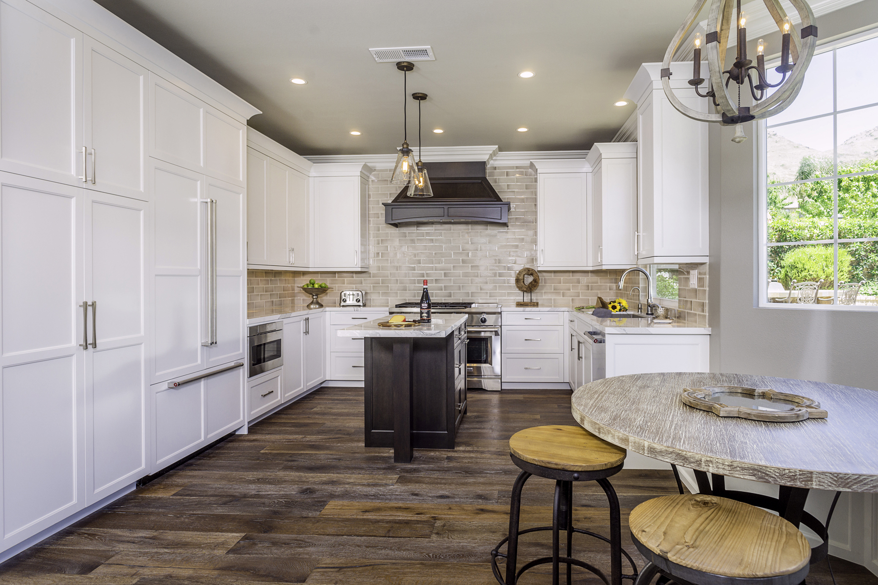 Wine Country Kitchen Cabinets with Island