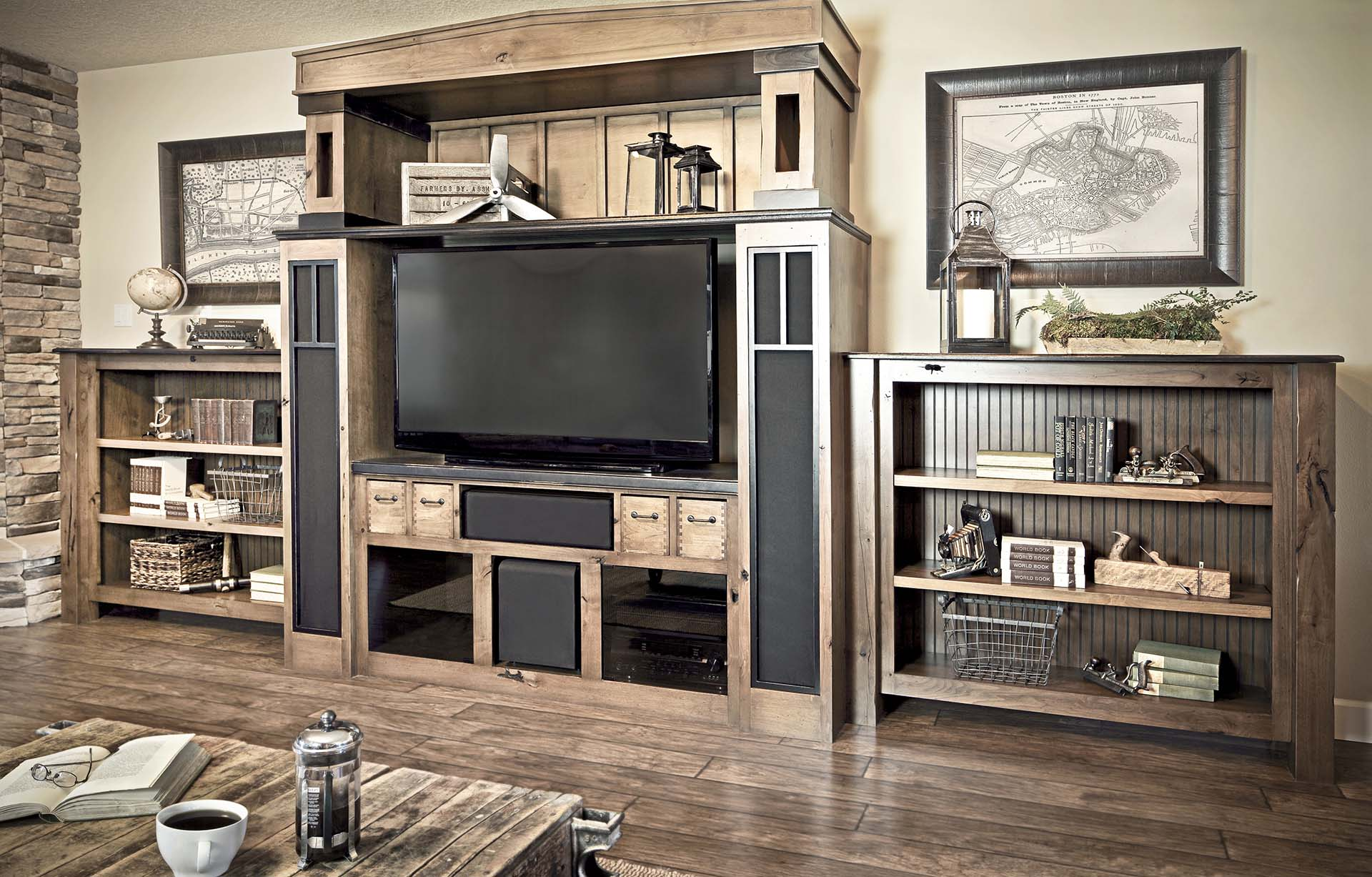 Craftsman Entertainment Center Great Room Cabinetry
