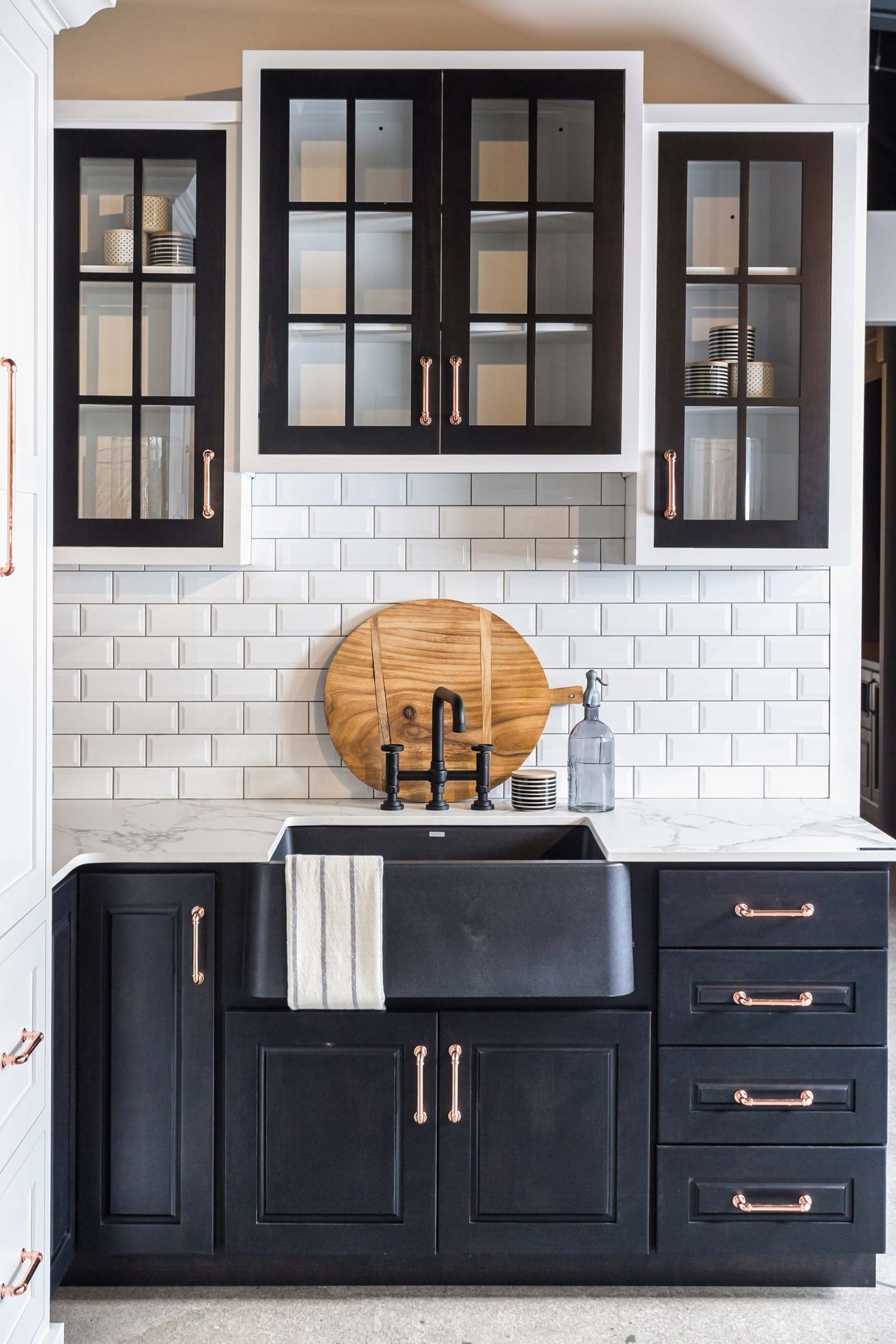 Modern Farm House Black Cabinetry