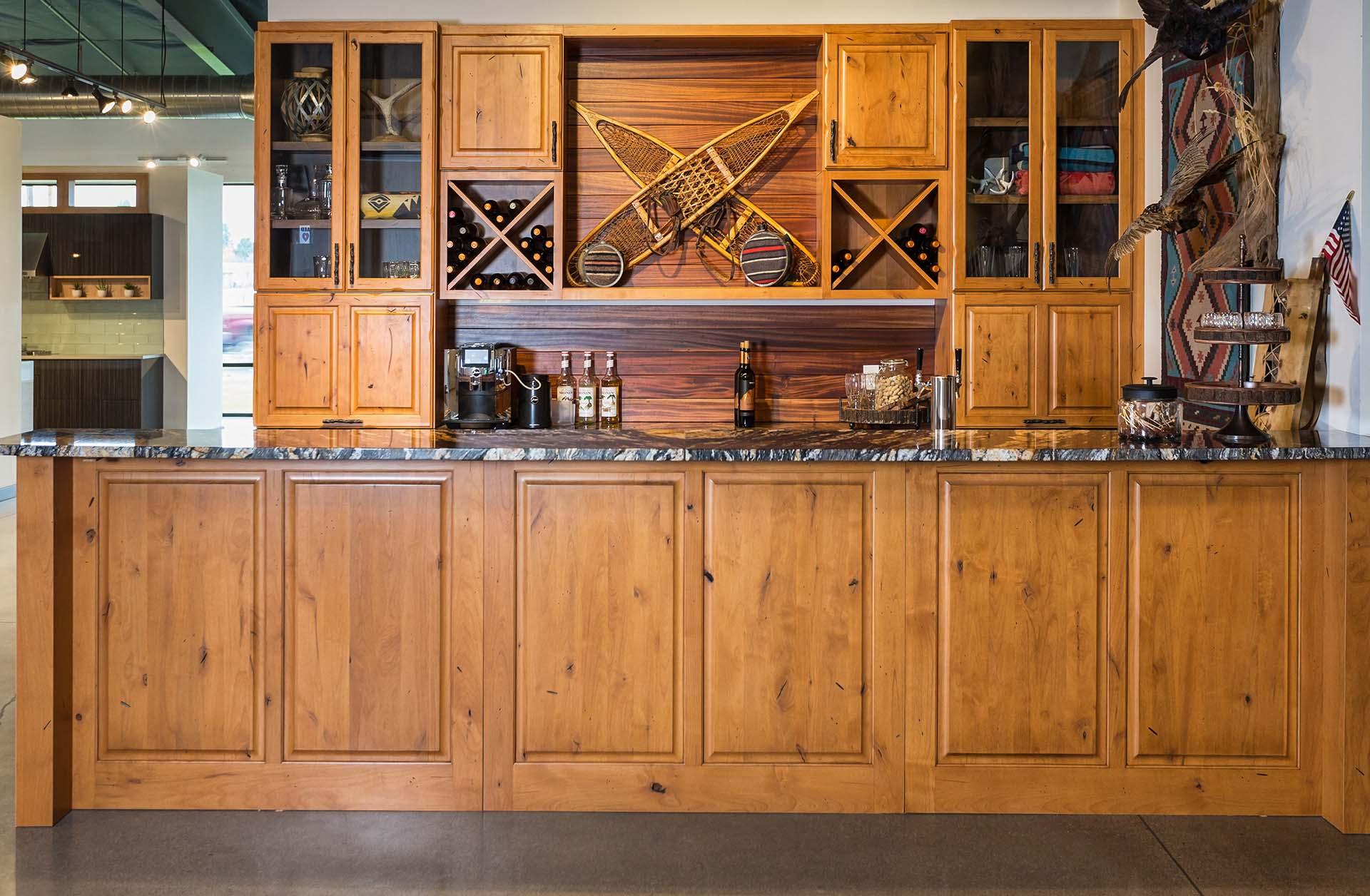 Modern Lodge Home Bar