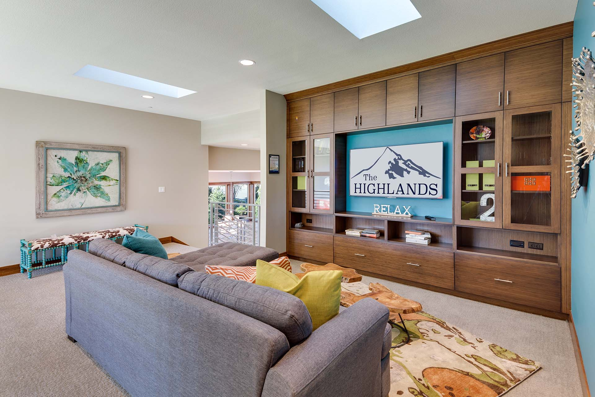 Pacific NW Modern Bamboo Entertainment Center