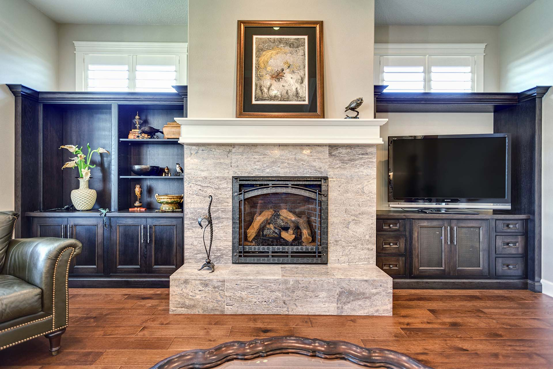 Traditional Great Room Built-In Cabinetry