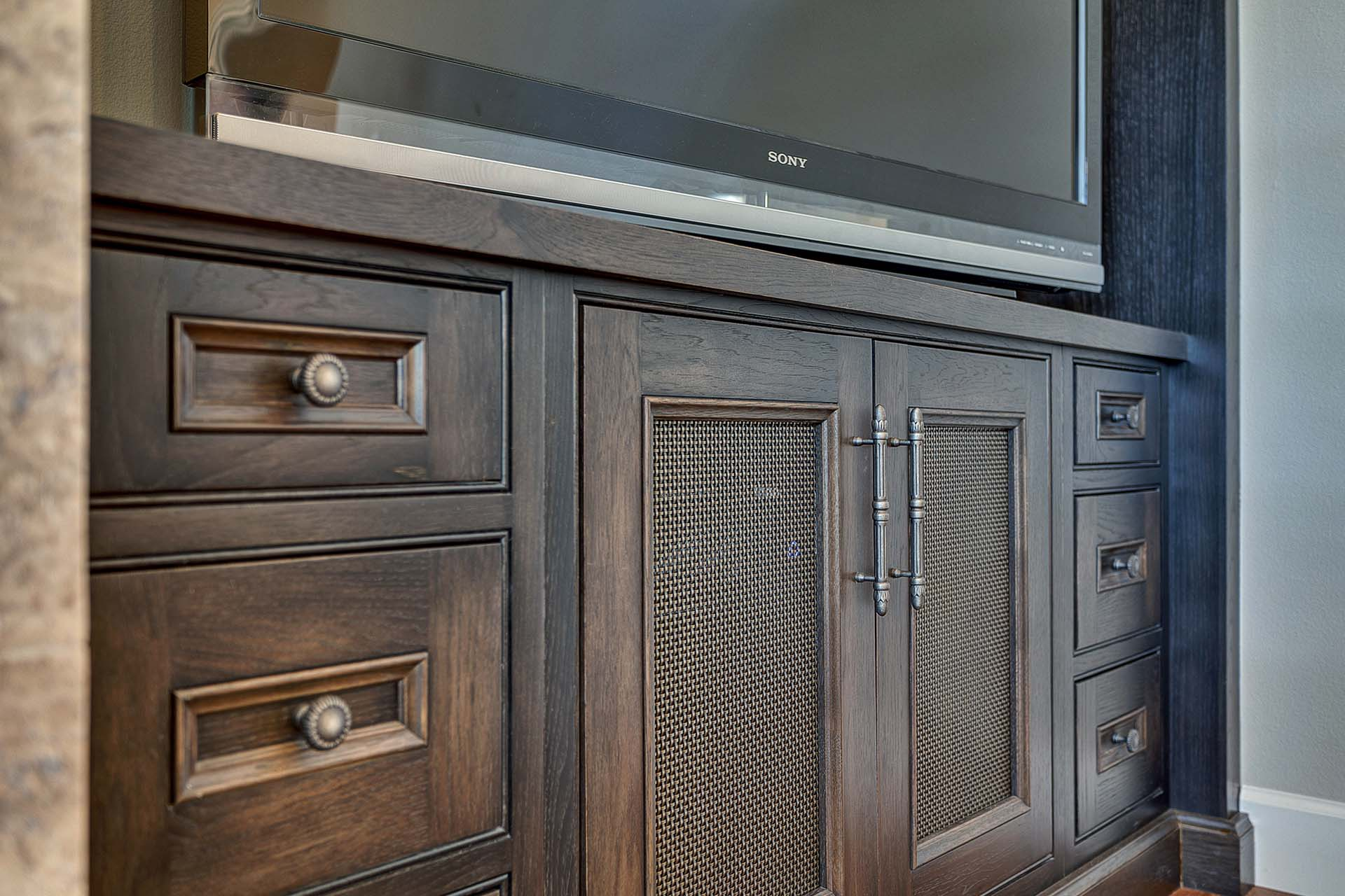 Inset Cabinetry Entertainment Center