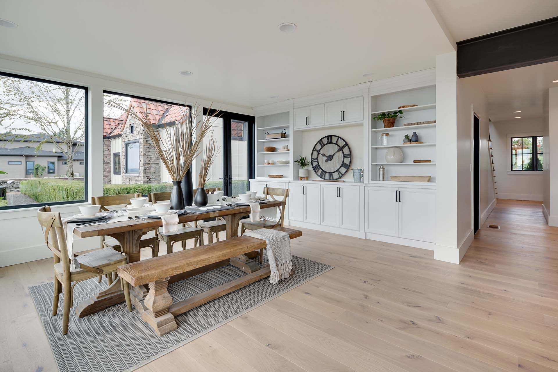 Modern Farmhouse Dining Room Cabinetry