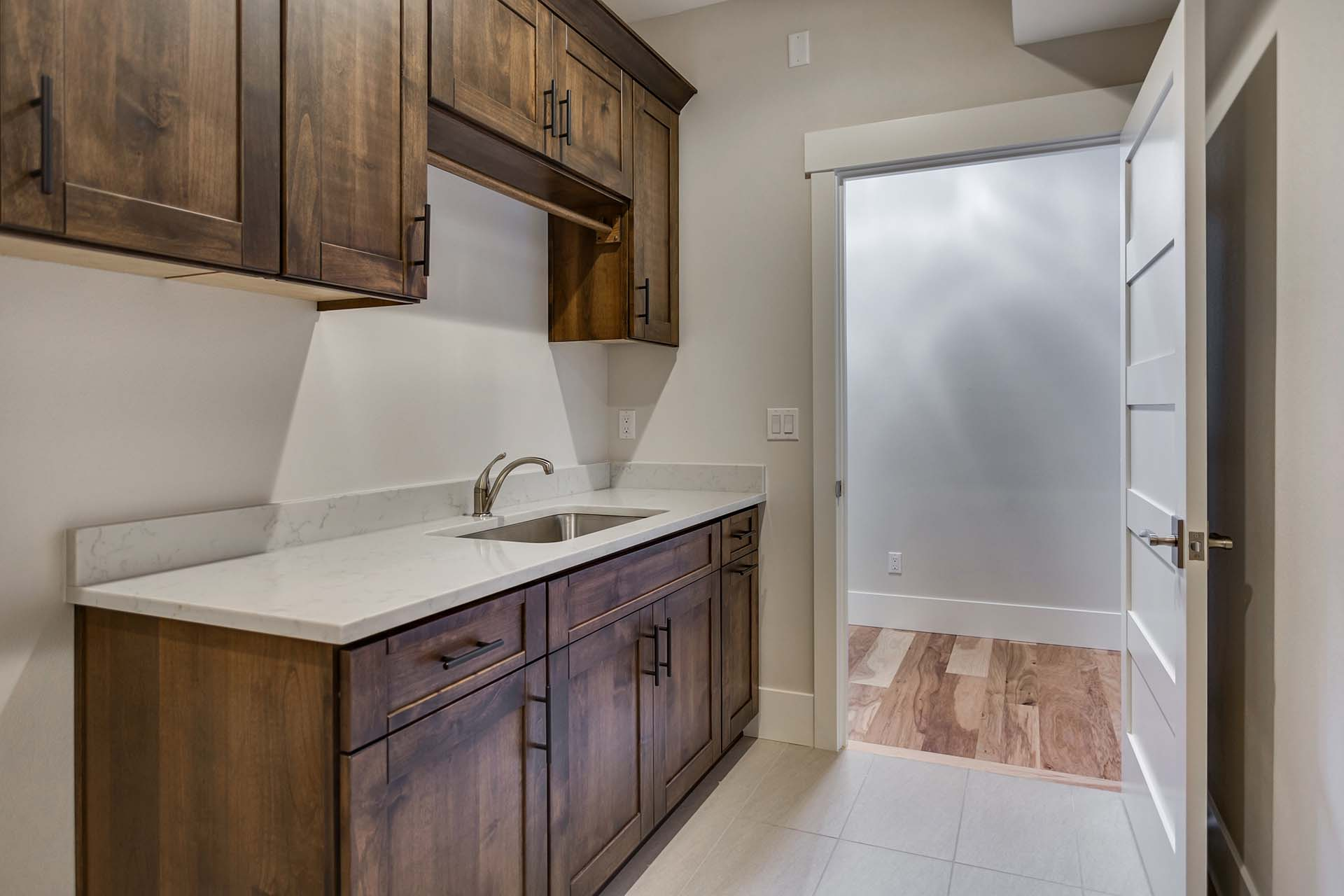 Alder Laundry Room Cabinetry