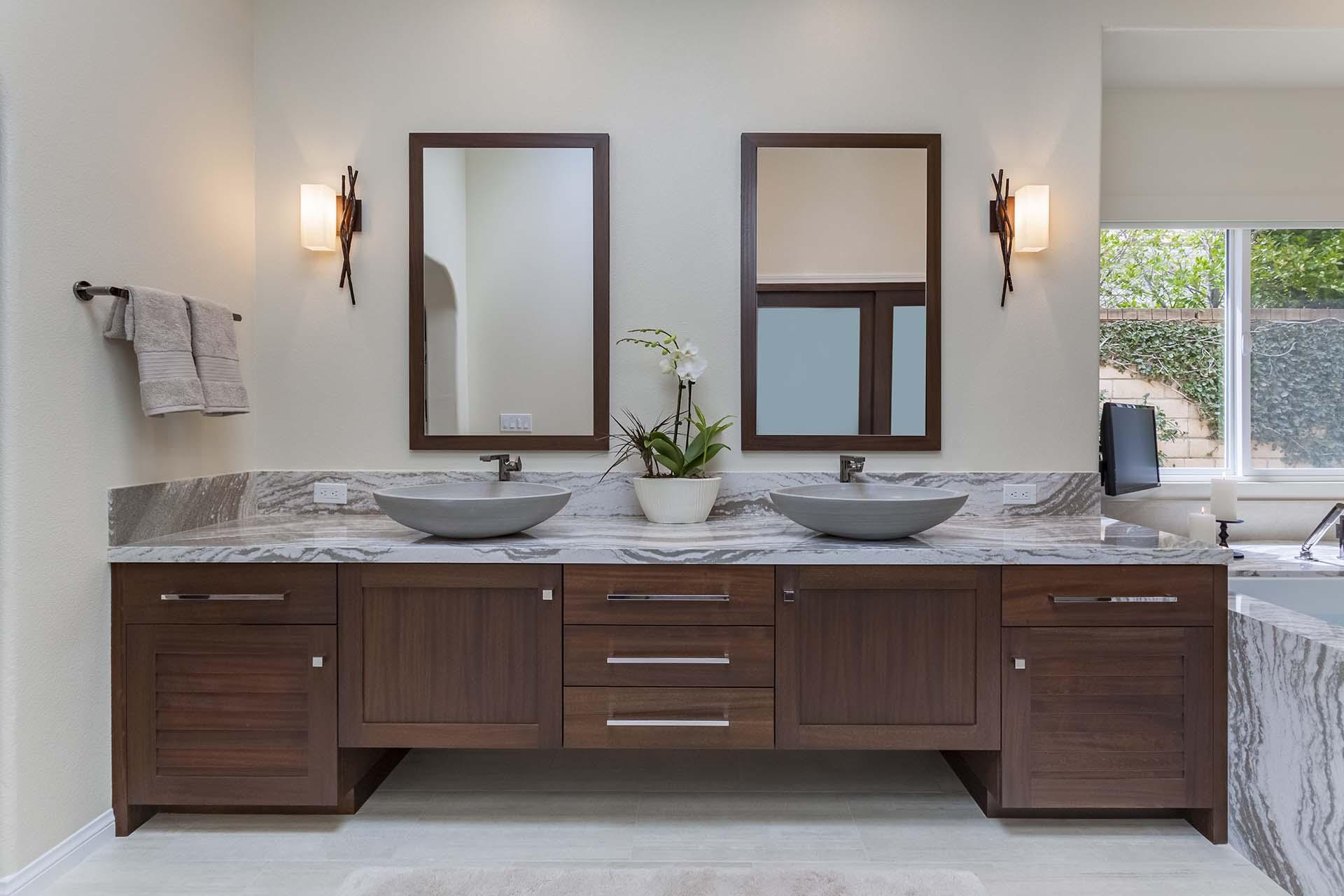 Mahogany Bathroom Cabinetry