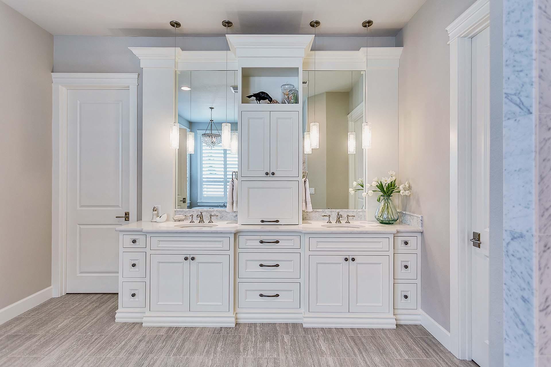 White Inset Style Vanity